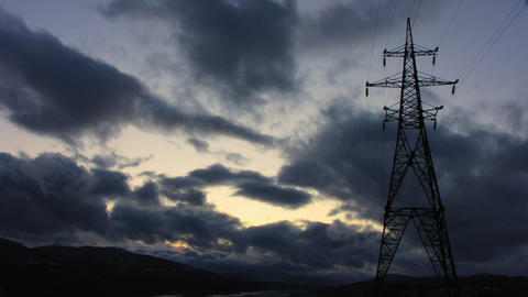 Power Lines 4 Stock Video Footage