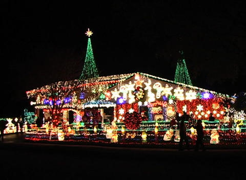 Christmas Light Display (2) Footage