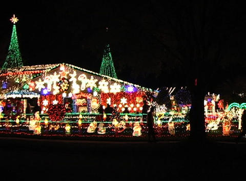 Christmas Light Display (2) Stock Video Footage