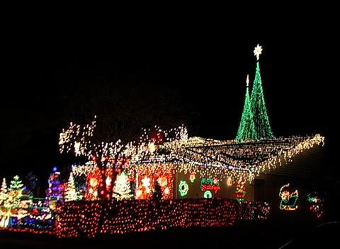 Christmas Light Display (4) Footage