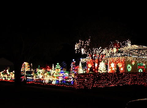 Christmas Light Display (4) Stock Video Footage
