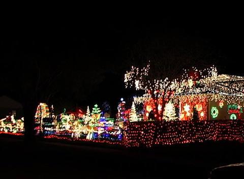 Christmas Light Display (4) Stock Video Footage