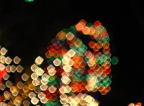 Blinking Colorful Lights Defocus (1) Stock Video Footage