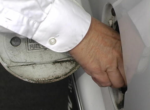 Car Gasoline Cap Being Removed Stock Video Footage