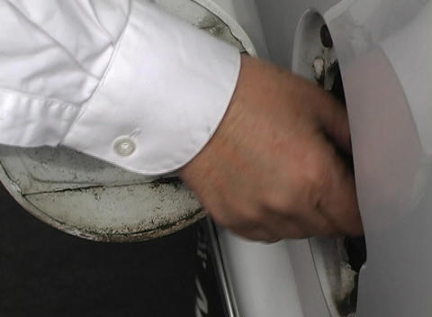 Car Gasoline Cap Being Removed Footage