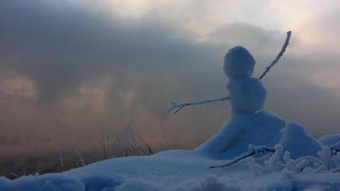 Winter landscape 2 P Stock Video Footage