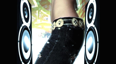 dancing hip hop girls Stock Video Footage