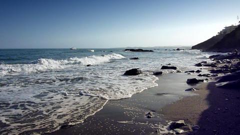 beach coast Stock Video Footage