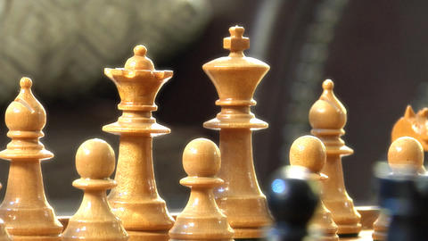 Chess Radial Dolly Track Around King Rigth stock footage