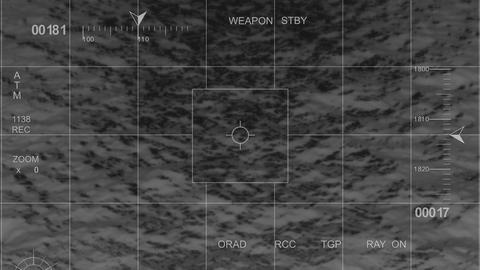 infrared War Helicopter water fly Stock Video Footage