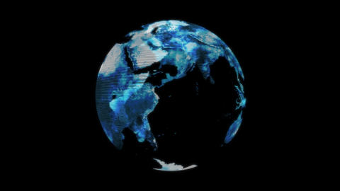 Earth hologram Stock Video Footage