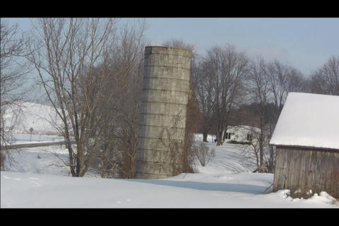 lonely silo Footage