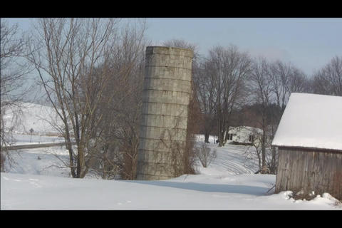 lonely silo Stock Video Footage