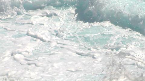 sea wave foam 104 Stock Video Footage