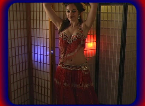 Beautiful Exotic Belly Dancer (3) Stock Video Footage