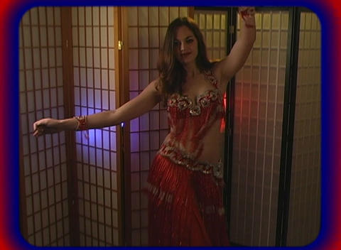 Beautiful Exotic Belly Dancer (2) Stock Video Footage