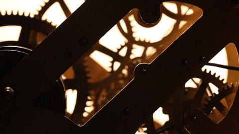 Clock Mechanism Footage
