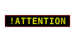 !Attention! Animation