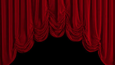 Red Austrian Curtain Opens. With Alpha Channel stock footage