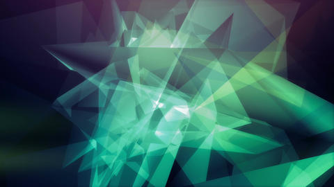 Mesmerizing multicolored polygonal shapes rotating CG動画素材