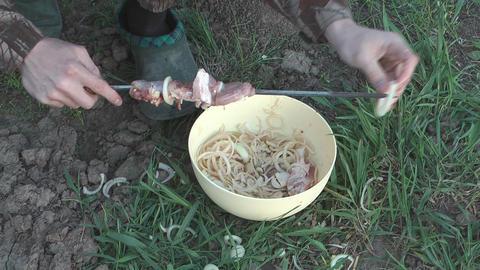 Cooking kebabs Footage