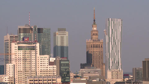 Warsaw Under Construction stock footage