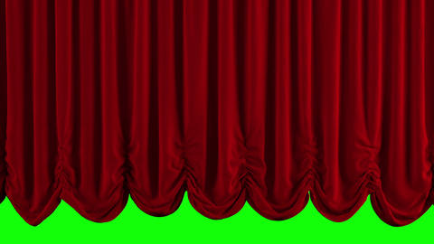 Red Austrian Stage Curtain go UP and DOWN Stock Video Footage