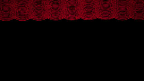 Red Austrian curtain opens Animation