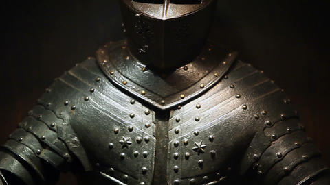Knightly Armor stock footage