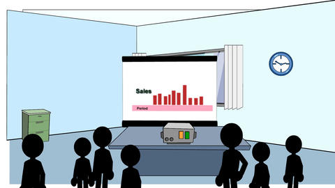Sales Rising & Falling: Animated + Looping Stock Video Footage