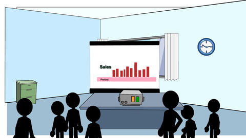 Sales Rising & Falling: Animated + Looping Animation