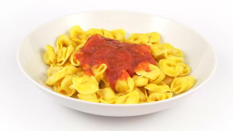 dish pasta tortelli tomato Footage
