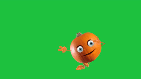 Dancing Animated Pumpkin: Green Screen + Looping Animation