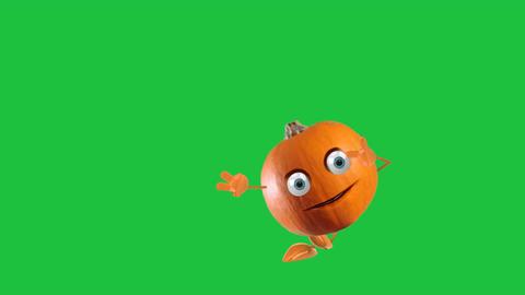 Dancing Animated Pumpkin: Green Screen + Looping Animation