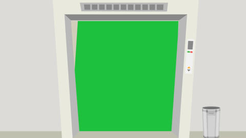 Cartoon Elevator, Green Screen Transition Animation