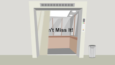 """Elevator Doors Open: """"Your Chance to Save"""": Loopin Stock Video Footage"""
