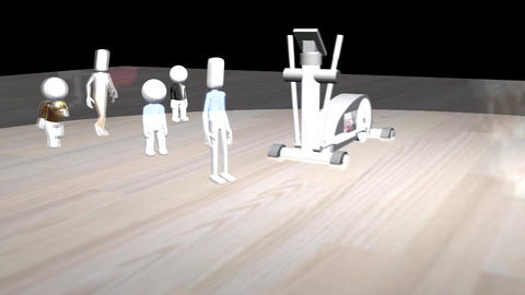Chasing Fitness Trends (No Screen) Animation