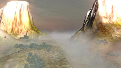 Fog in the Mountains: Looping Animation