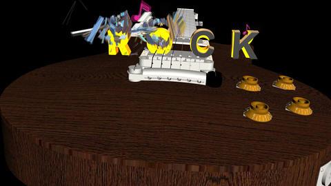 Rock Title Explode: Version #2 Animation