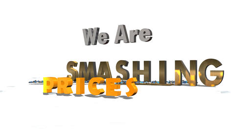 Smashing the Competition & Price (Version #2) Stock Video Footage