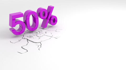 Special offer, sale, discount, percentages Animation