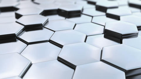 Loopable, Hexagonal silver background Animation