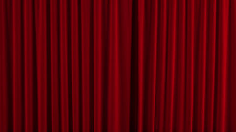 Theater Red curtain opens, Stock Animation