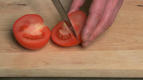 Tomato Cutting stock footage