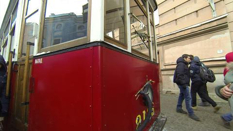 Tram blockade of Leningrad 2.7K Footage