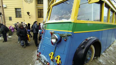 Trolleybus blockade of Leningrad Footage