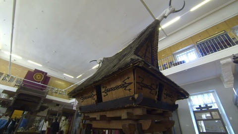 A wooden hut. Kunstkamera. Saint-Petersburg Footage