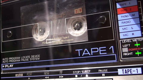 Installing a cassette tape recorder Footage