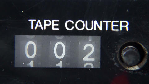 Mechanical counter tape Footage