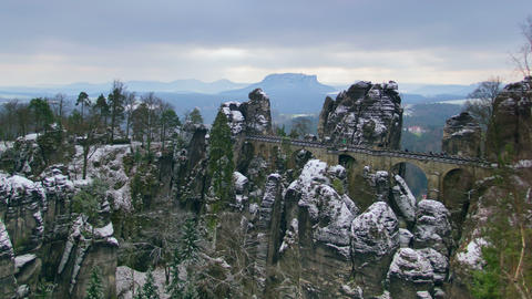 4k UHD Germany Saxon Switzerland Bastei Clou 11289 stock footage